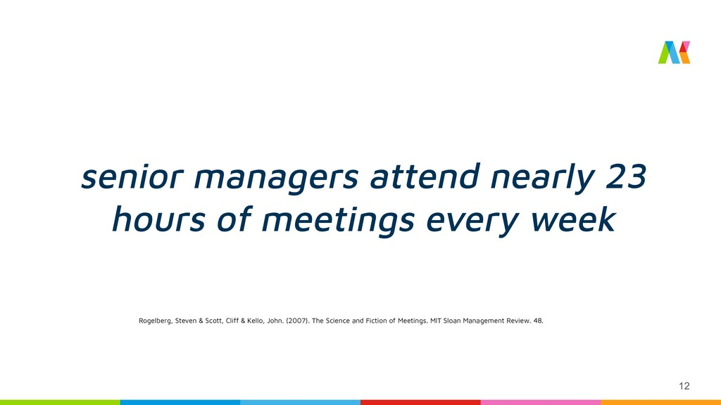 senior managers attend nearly 23 hours of meeti...