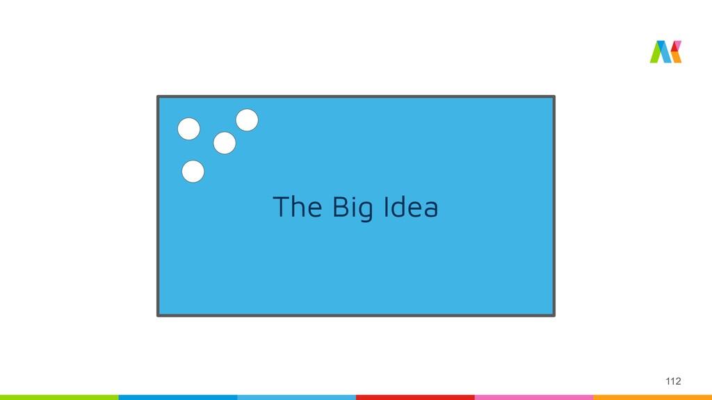 112 The Big Idea