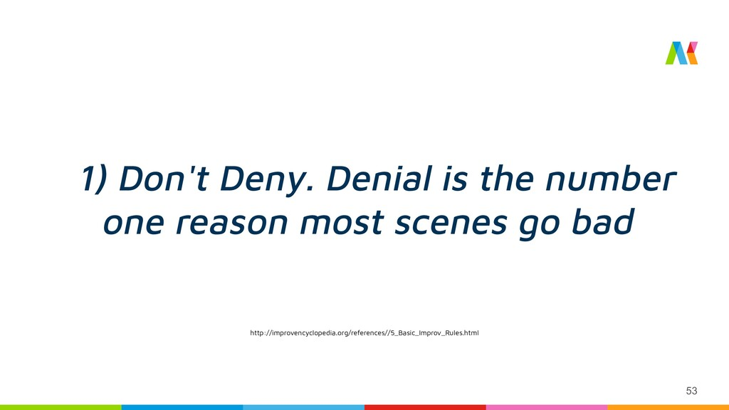 53 1) Don't Deny. Denial is the number one reas...