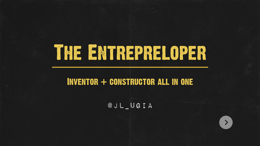 Inventor + constructor all in one The Entreprel...