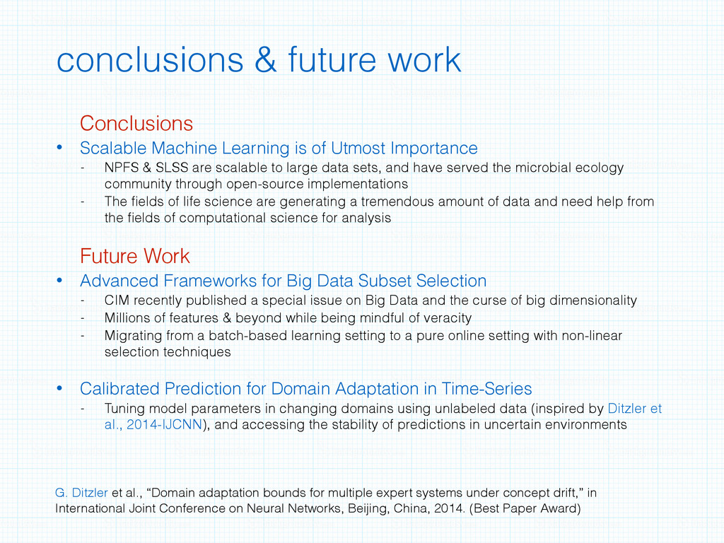 conclusions & future work Conclusions • Scalabl...