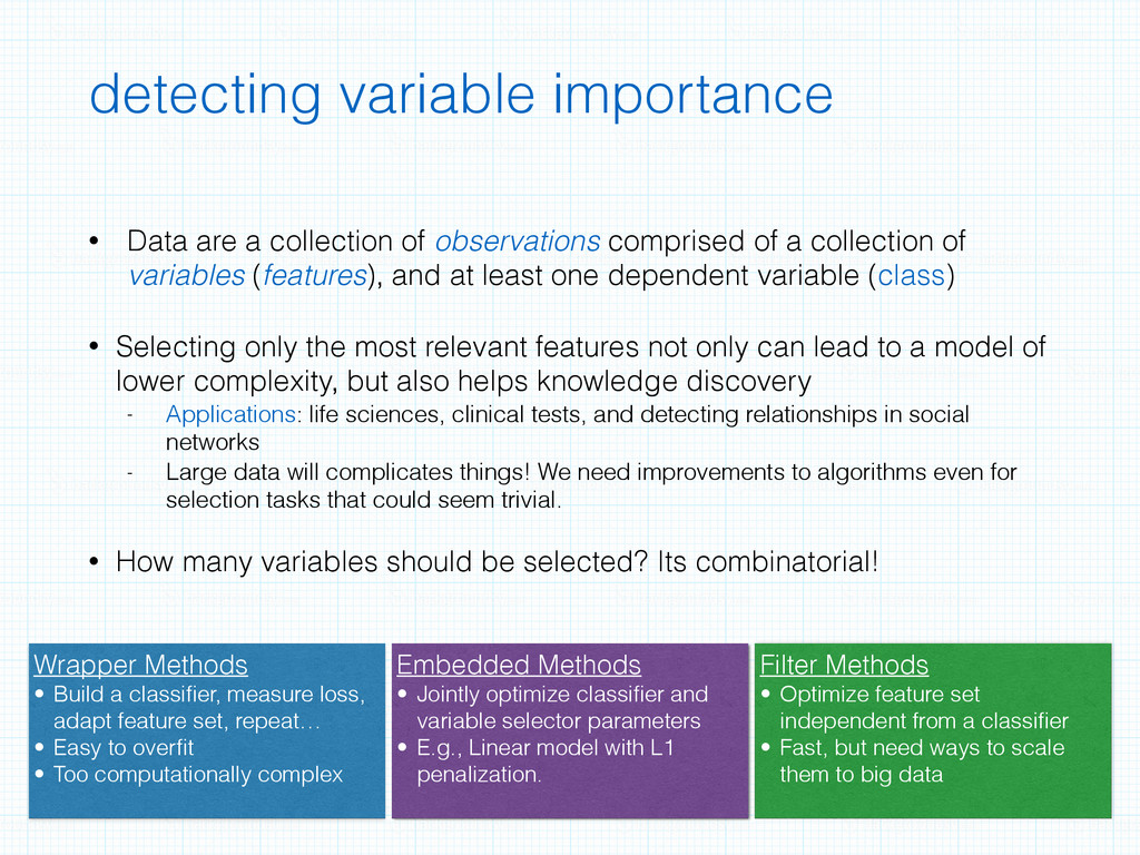 detecting variable importance • Data are a coll...