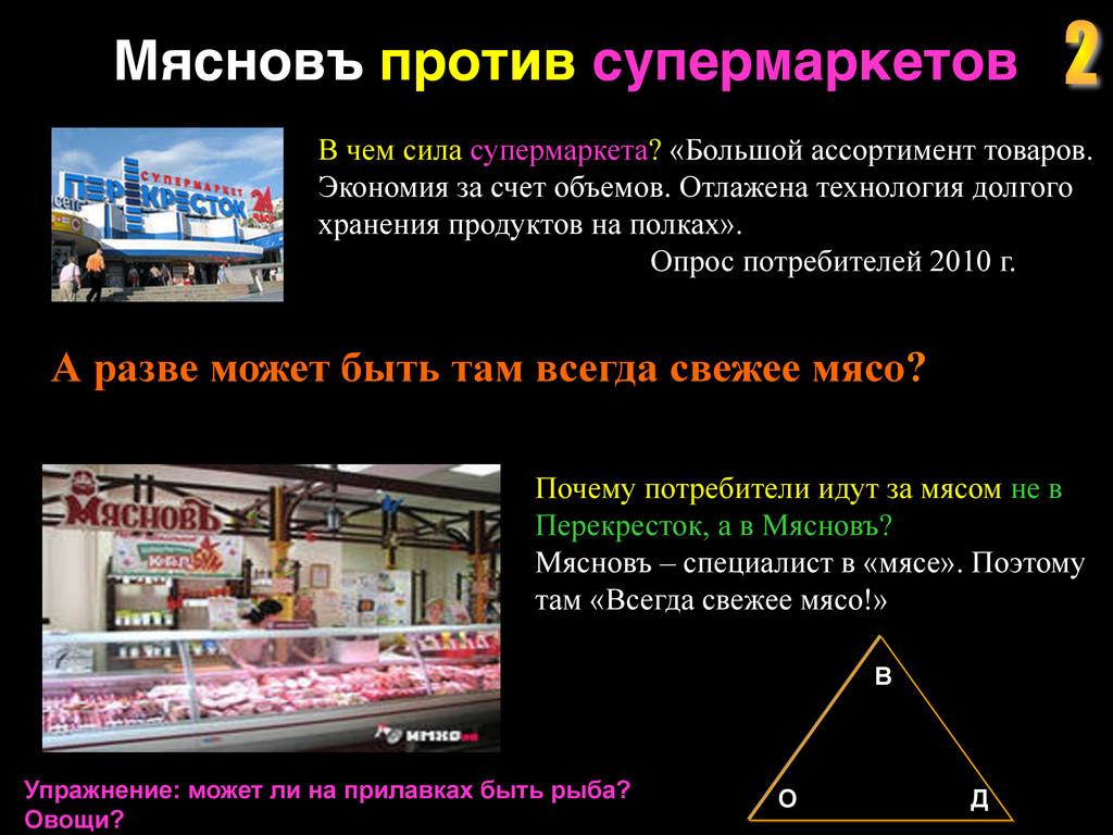 Мясновъ против супермаркетов ! В чем сила супер...
