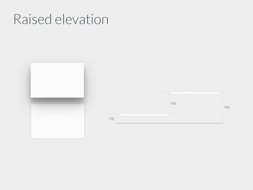 Raised elevation