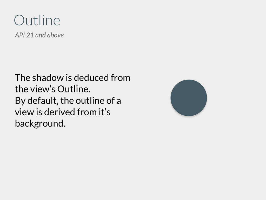 Outline The shadow is deduced from the view's O...