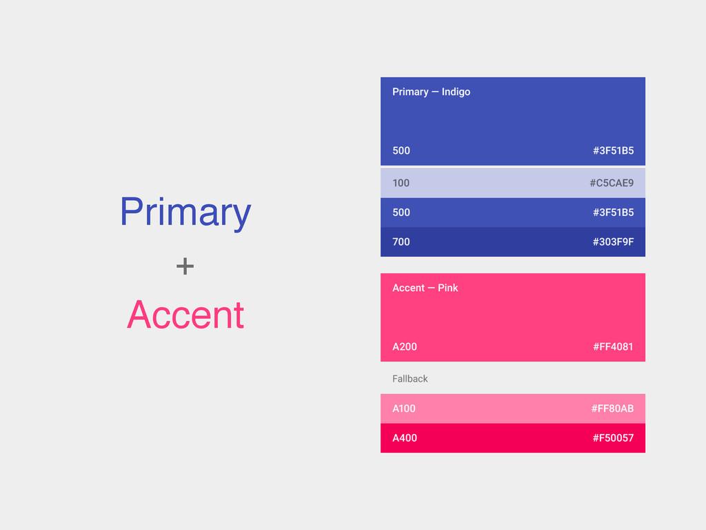 Primary! +! Accent