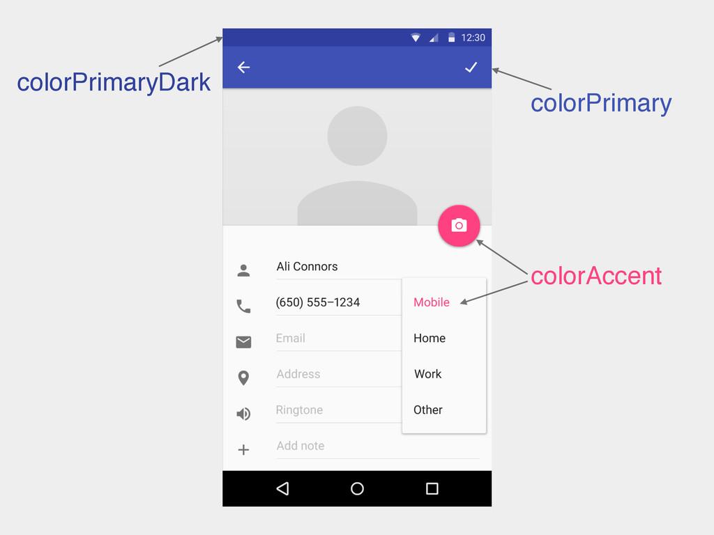 colorAccent colorPrimary colorPrimaryDark