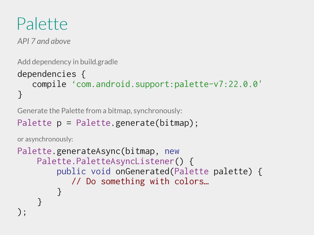 Add dependency in build.gradle dependencies { c...