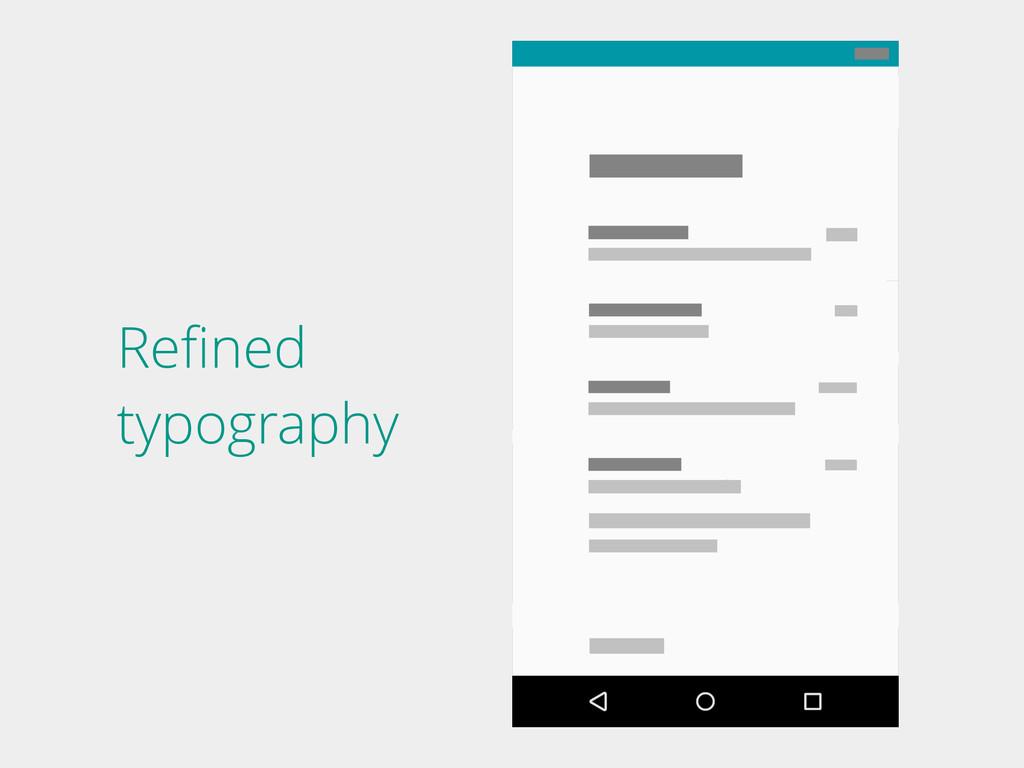 Refined typography
