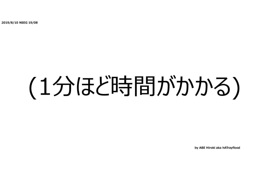 2019/8/10 NSEG 19/08 (1分ほど時間がかかる) by ABE Hiroki...