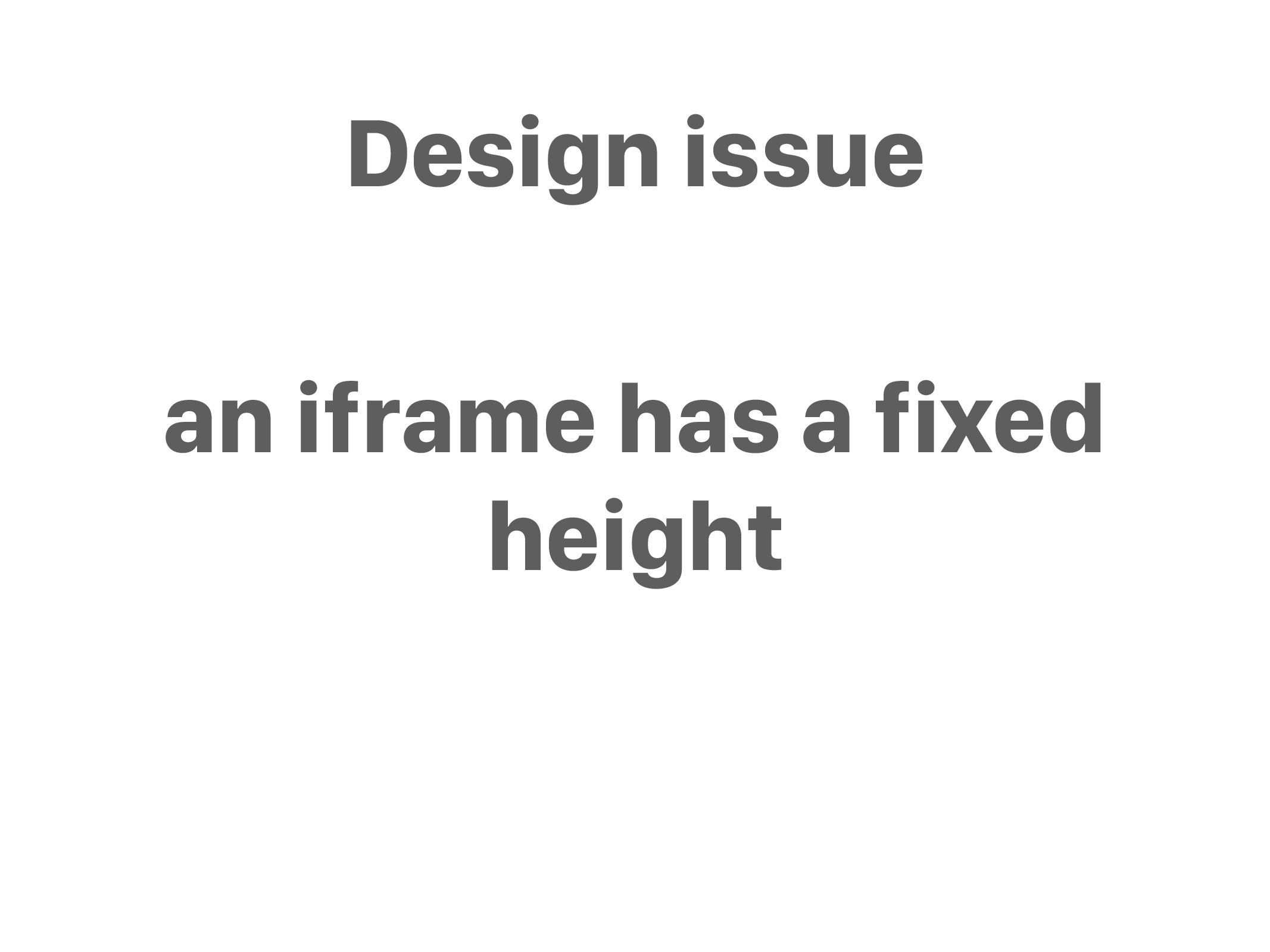 an iframe has a fixed height Design issue