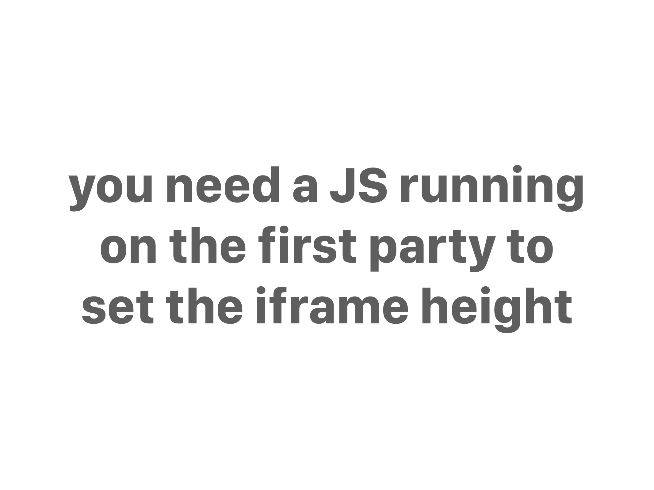 you need a JS running on the first party to set...