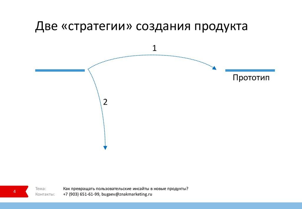 Две «стратегии» создания продукта 4 Тема: Как п...