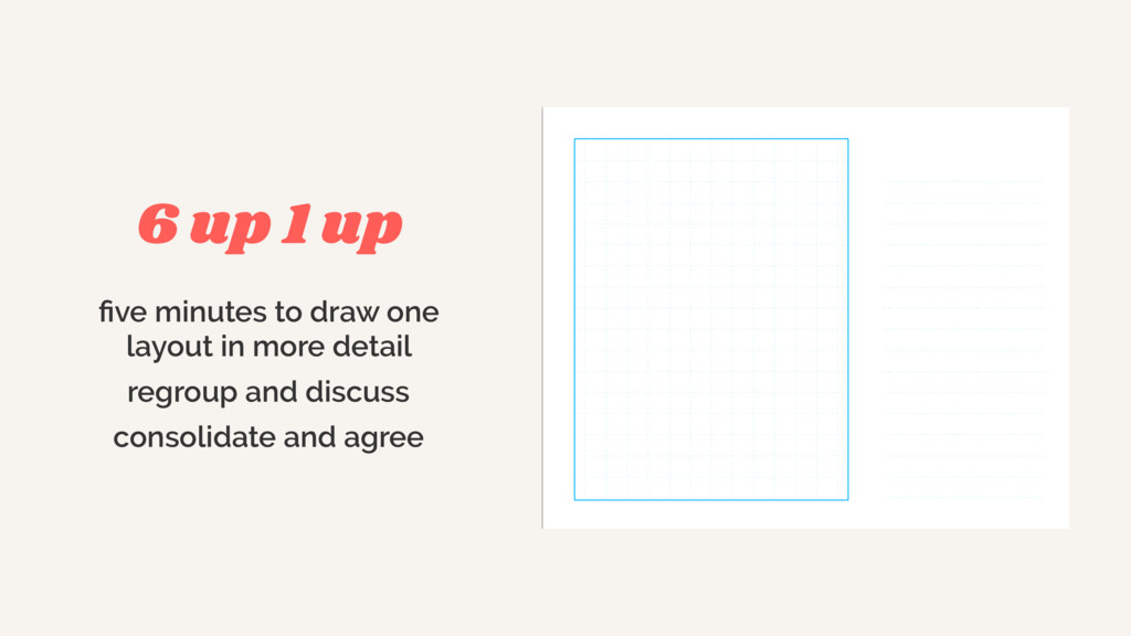 five minutes to draw one layout in more detail ...