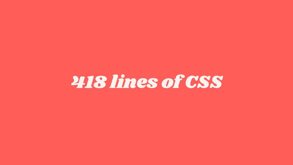 418 lines of CSS