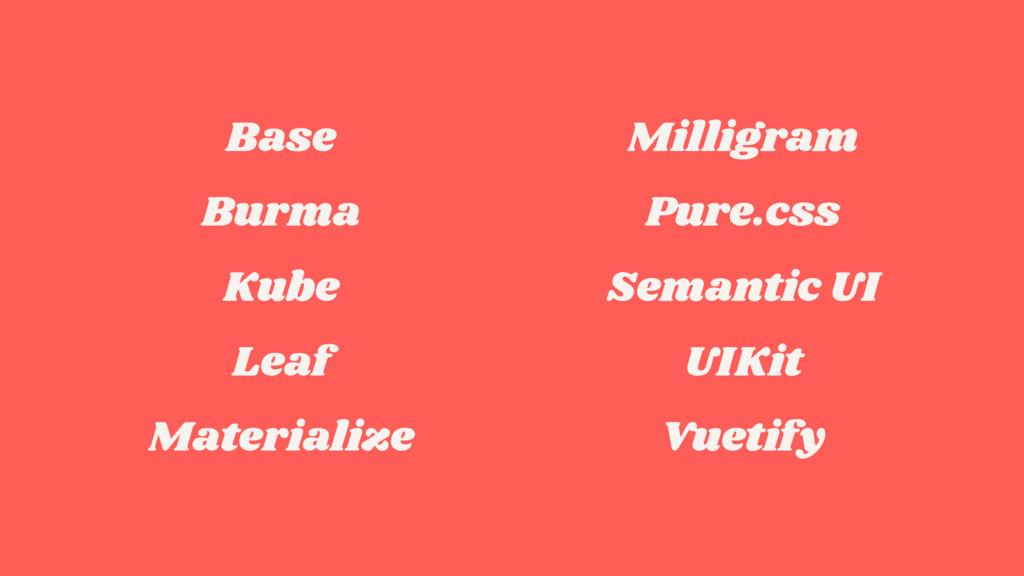 Base Burma Kube Leaf Materialize Milligram Pure...