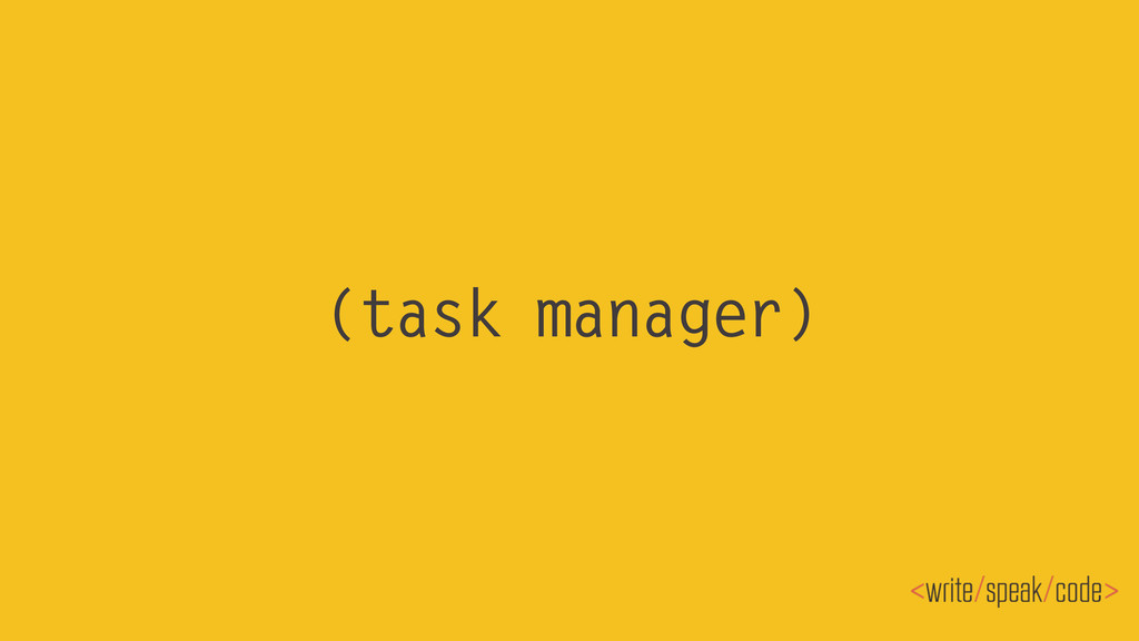 (task manager)