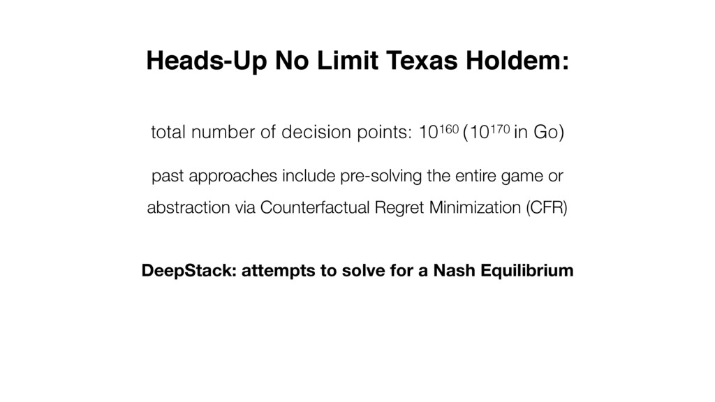 Heads-Up No Limit Texas Holdem: total number of...