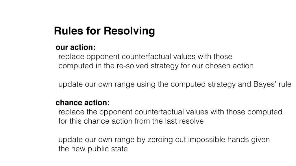 Rules for Resolving our action: replace opponen...