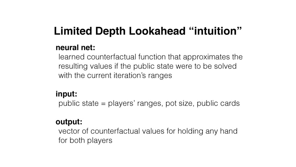 "Limited Depth Lookahead ""intuition"" neural net:..."