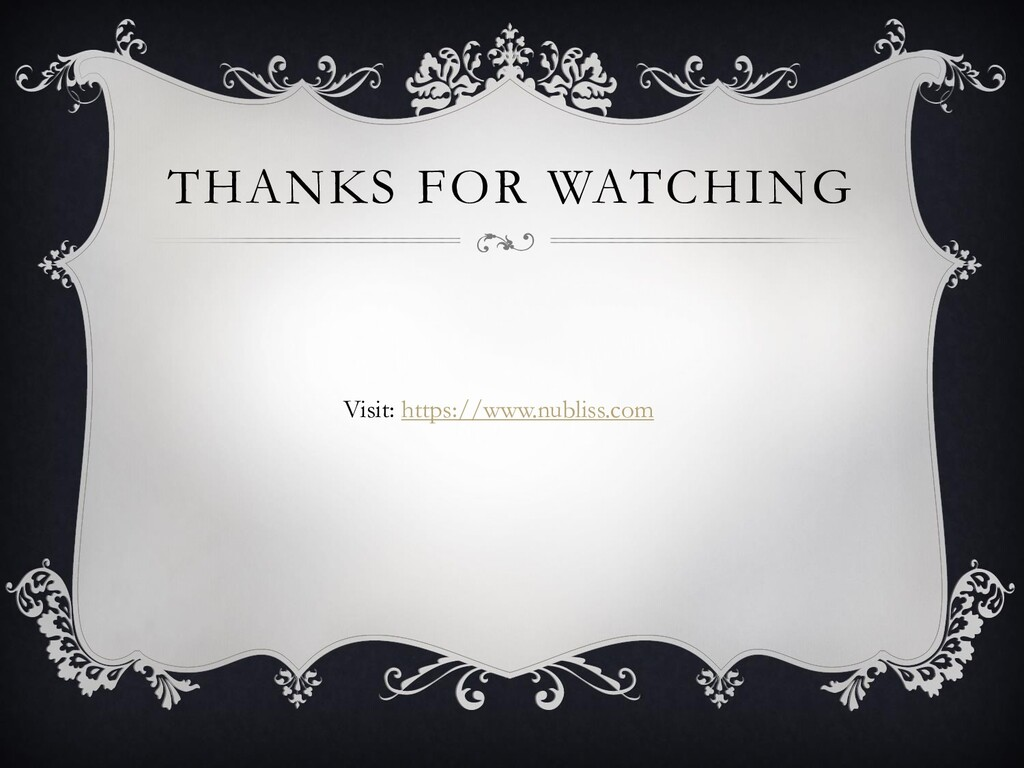 THANKS FOR WATCHING Visit: https://www.nubliss....