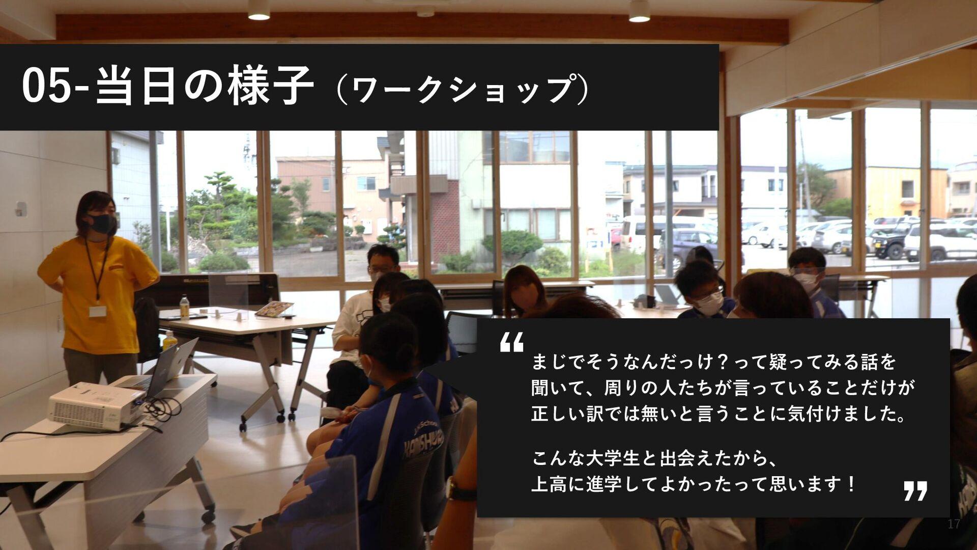 ©2021 Terakoya for tomorrow Inc. 17 05-当日の様子(ワー...