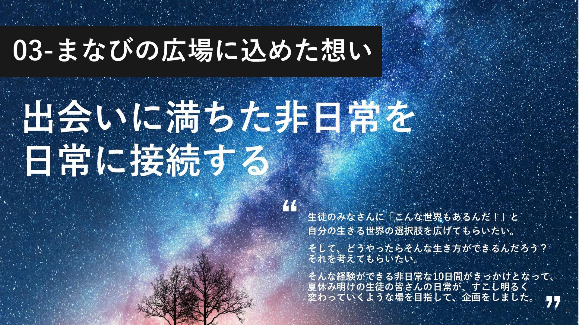 ©2021 Terakoya for tomorrow Inc. 6 出会いに満ちた非日常を ...