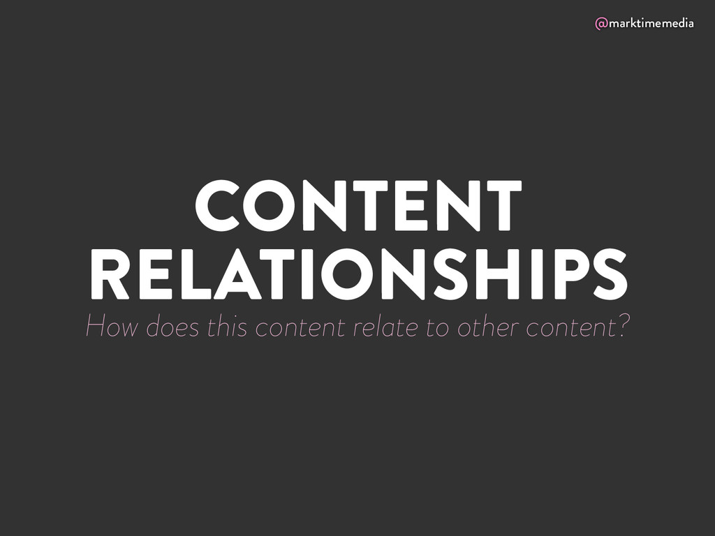 @marktimemedia CONTENT RELATIONSHIPS How does t...