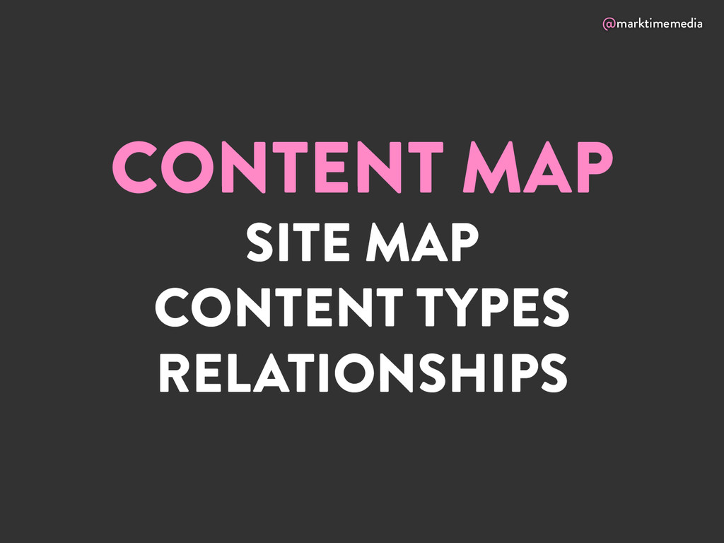 @marktimemedia CONTENT MAP SITE MAP CONTENT TYP...