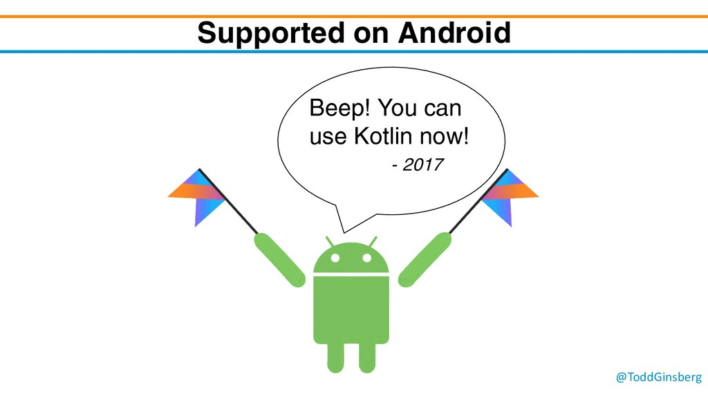 @ToddGinsberg Supported on Android Beep! You ca...