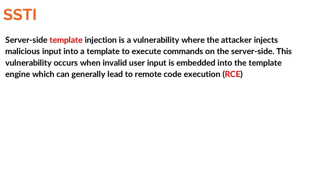 SSTI Server-side template injection is a vulner...
