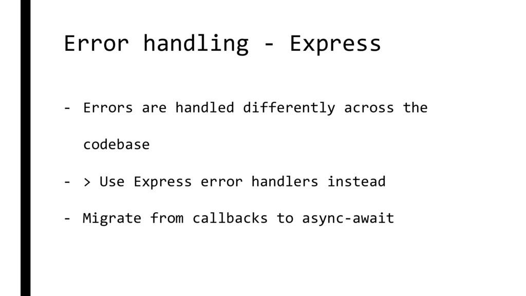 Error handling - Express - Errors are handled d...