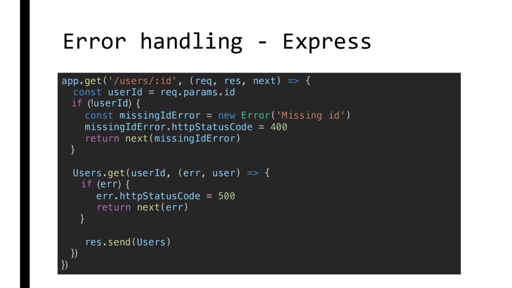Error handling - Express app.get('/users/:id', ...