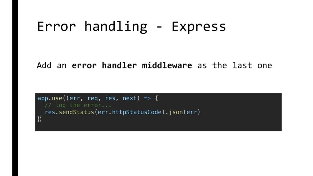 Error handling - Express app.use((err, req, res...