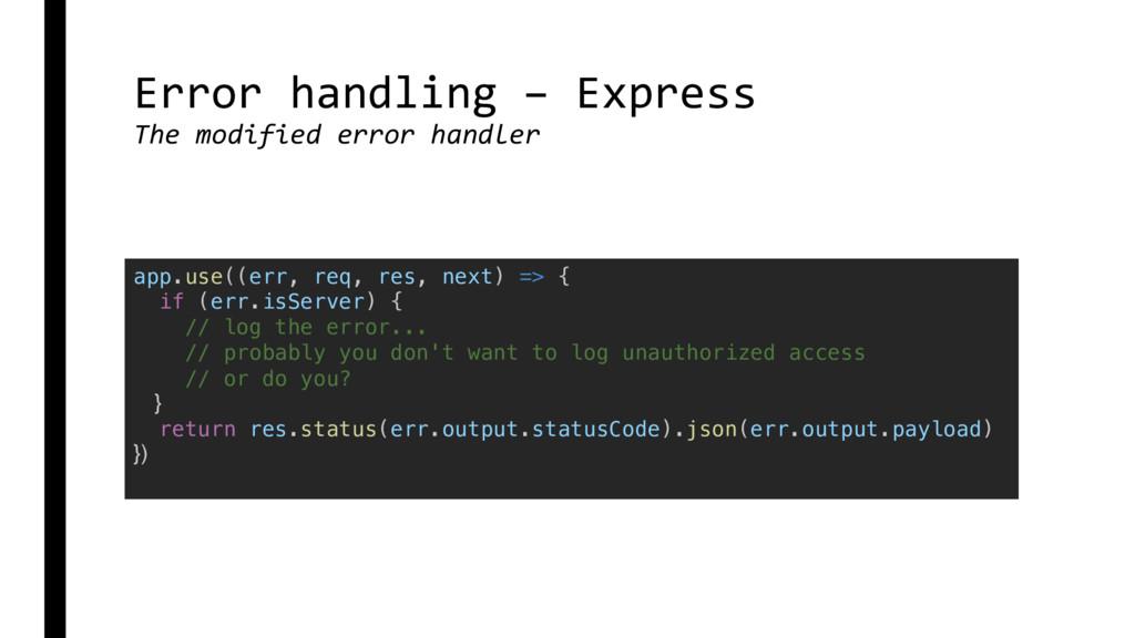 Error handling – Express The modified error han...