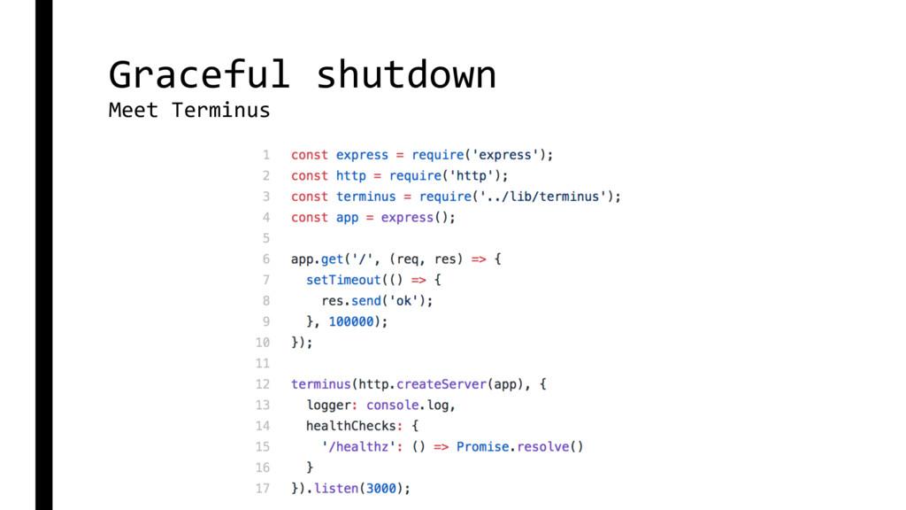 Graceful shutdown Meet Terminus