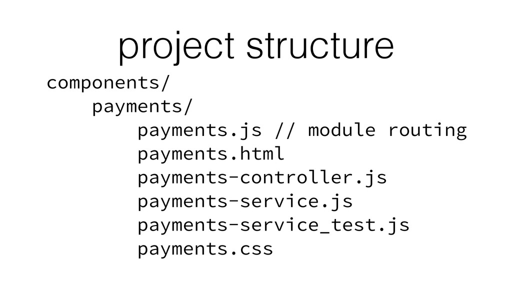 project structure components/ payments/ payment...