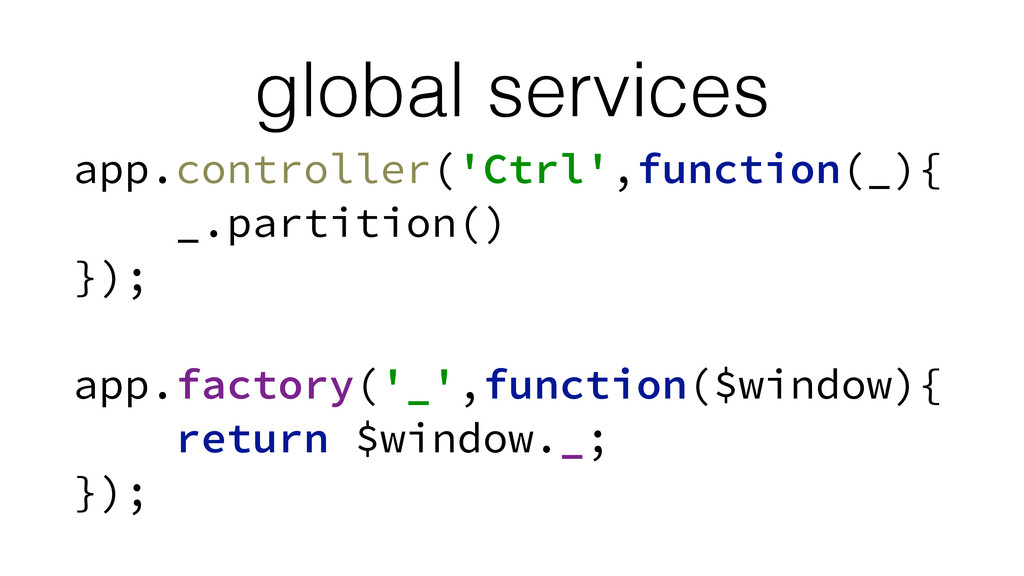 global services app.controller('Ctrl',function(...