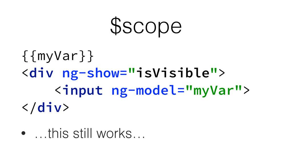 "$scope {{myVar}} <div ng-show=""isVisible""> <i..."