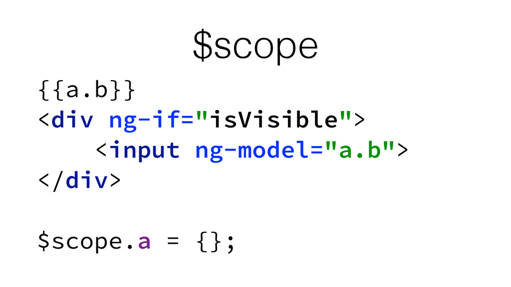 $scope {{a.b}}