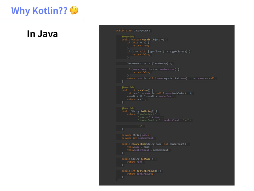 8IZ,PUMJO  public class JavaMeetup { @Overrid...