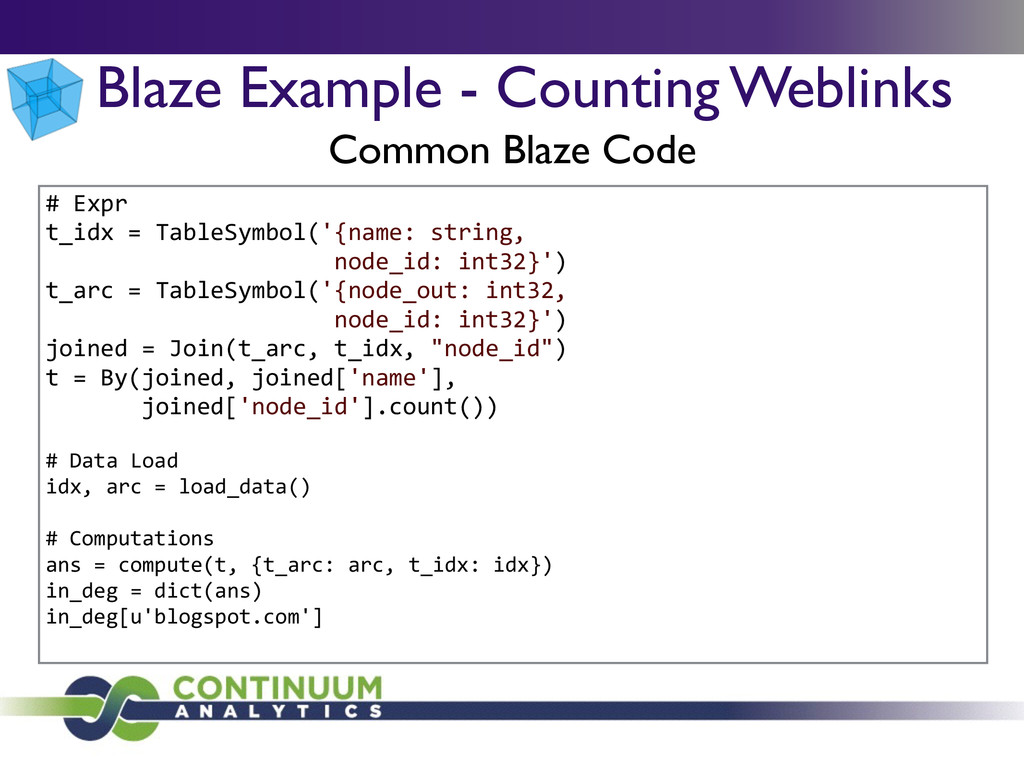 Blaze Example - Counting Weblinks Common Blaze ...