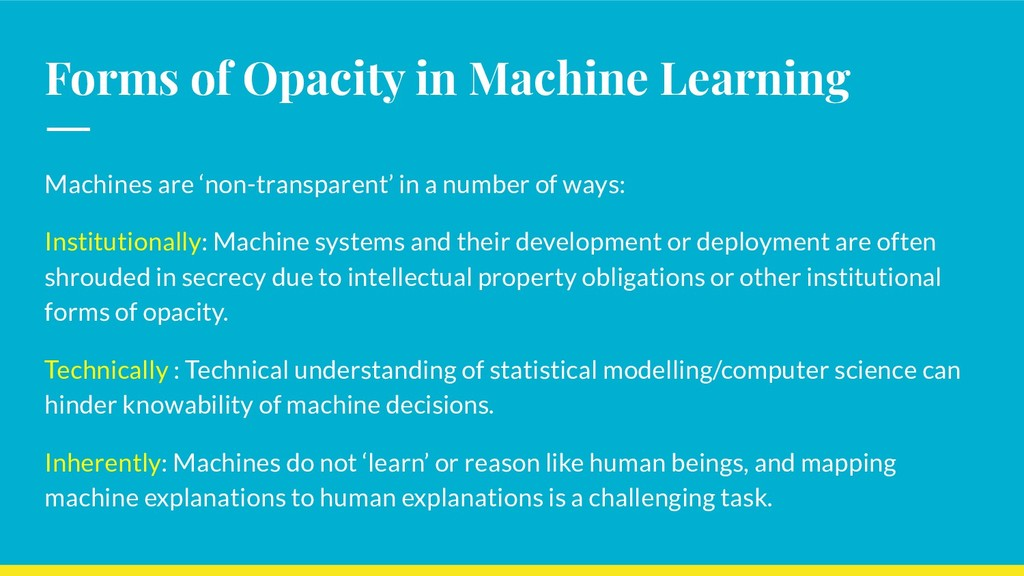 Forms of Opacity in Machine Learning Machines a...