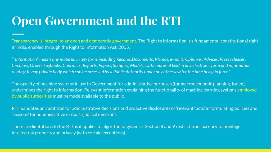 Open Government and the RTI Transparency is int...