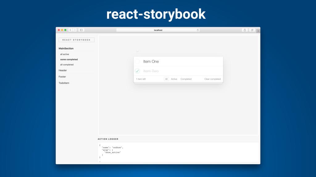 react-storybook