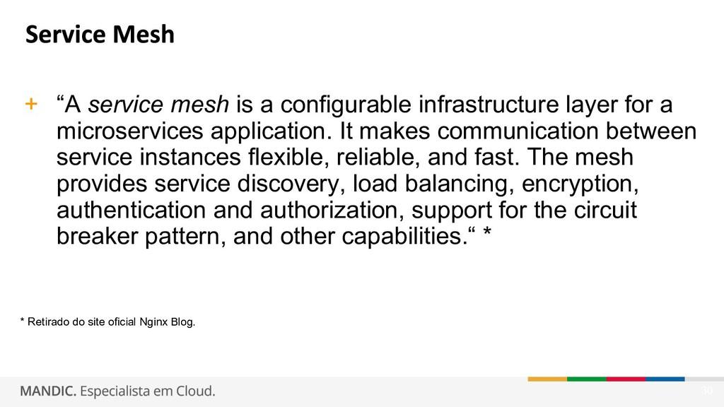 "30 + ""A service mesh is a configurable infrastr..."