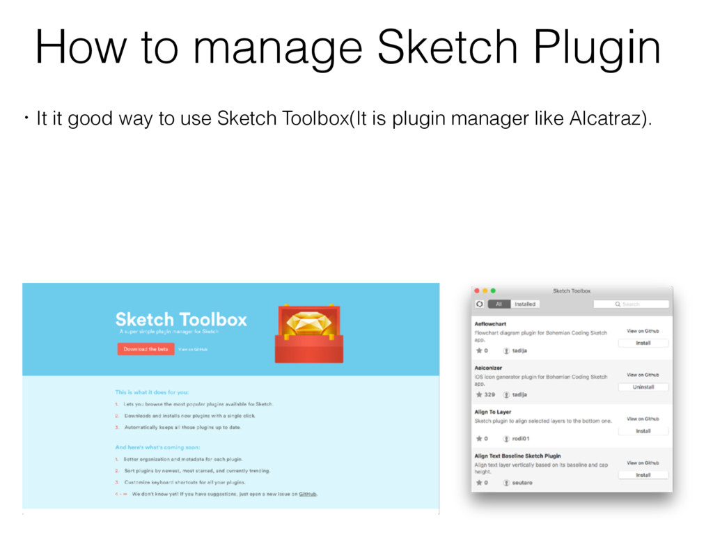 How to manage Sketch Plugin ɾIt it good way to ...