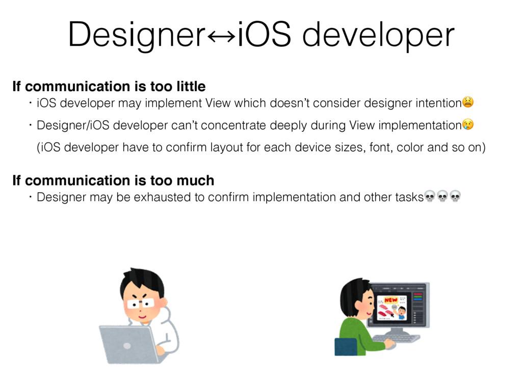 Designer㲗iOS developer If communication is too ...