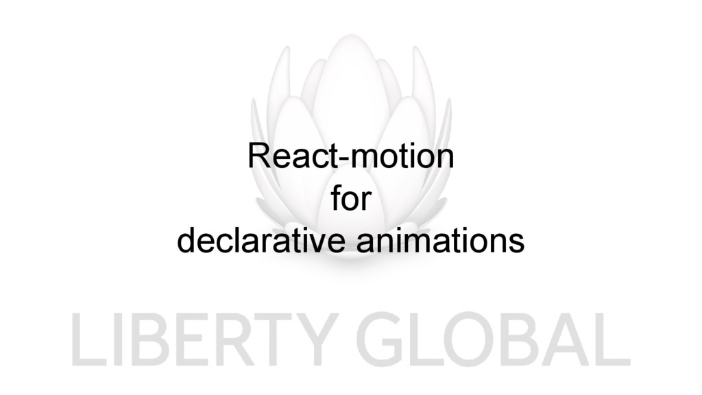 React-motion for declarative animations