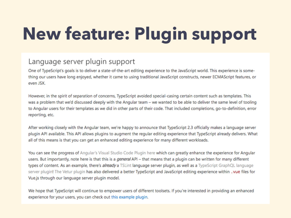 New feature: Plugin support